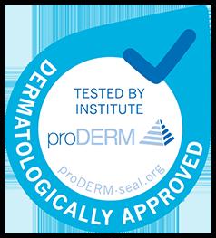 ProDERM logo - Dermatologically approved